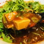 辛っとろ麻婆麺 あかずきん - これが名物の辛旨麻婆スープだ!