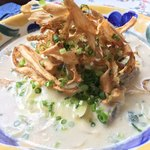 いたり家 - かき長葱ごぼうのチーズみそクリームスープパスタ ¥1,100