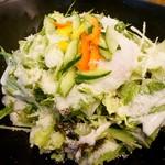 なっぱ畑 - 温玉のせシーザーサラダ