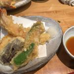 神楽坂 山せみ - コースの天ぷら蕎麦の天ぷら