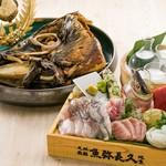 魚弥長久  - 料理写真:名物!魚弥長久盛り刺身7点盛りと志太権現鮪兜煮プラン