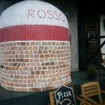 ピッツェリア ロッソ - ピザを焼く石釜
