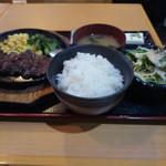 串源屋 - 牛ハラミ鉄板ステーキ定食