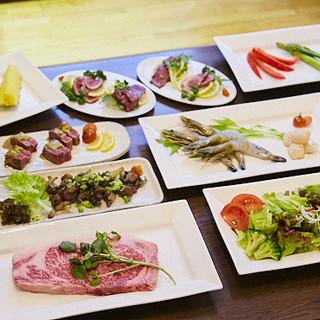 お肉たっぷりのコースは4種類!+1,500円で飲み放題も★