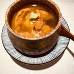 祢々 - 雲丹がたっぷり入った贅沢な茶碗蒸し。