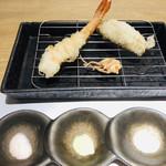 祢々 - プリプリの天使の海老の天ぷらはカラリと揚がって、頭からサクサクいただけます♡
