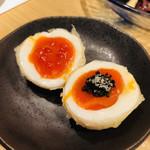 祢々 - 半熟卵の天ぷら(*^◯^*)卵好きには嬉しいおかず♡トリュフとイクラはいらないかも。。。