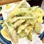 ハマグルメ とも栄鮨 - 季節の天ぷら(春うらら)です