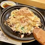 ハマグルメ とも栄鮨 - 山芋と春野菜のステーキ