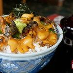 魚又 - 料理写真:天然くろあわびのあわび丼(イメージ)
