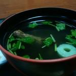 徳右エ門 - 鰻肝の吸物