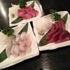 GYO2 - 料理写真:刺身(上:ぶり、左下:すずき、右下:かつお)