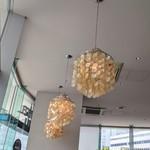 キンカウーカ・グリル&オイスターバー - 貝殻のシャンデリア いいなぁー♡