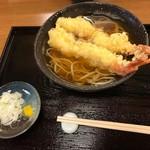 手打ちそば まえかわ - エビ天2匹の蕎麦(1,200円)_2019年2月