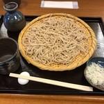 手打ちそば まえかわ - ざるそば(700円)_2019年2月