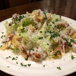 3世代で楽しめるイタリアン 「キッチンmatsui」 - 生ハムを使ったシーザーサラダ