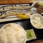 磯丸水産 - 秋刀魚定食@900