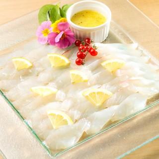 産直❕瀬戸内鮮魚の塩檸檬カルパッチョ❕