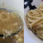 彩色ラーメンきんせい - 【濃厚鶏豚骨つけ麺 + 半熟味付け玉子】¥830 + ¥100