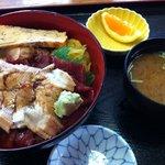金寿司 地魚定 - 穴子と漬け丼