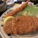 かつ喜 - 料理写真:「海老ロースかつランチ(1030円)」