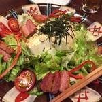 博多 ほてい屋 - 汲み上げ豆腐と厚切りベーコンのサラダ