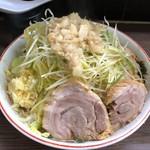 ラーメン二郎 - 小ぶた+ネギ ※ニンニク、ヤサイ、アブラ