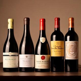 フランスワインを中心に常時50種類程度ご用意