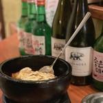 京の韓国家庭料理 ハムケ - チーズ石焼ブルダック