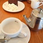 珈琲専門店 三十間 - コーヒー達。ミルクは生クリームも選べる。