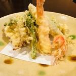 手打そば まきの - 料理写真:天ぷら盛り合わせ