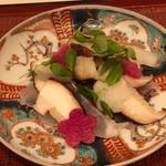 蓬左茶寮 - しいたけ屋ひらまつの原木椎茸を師崎産鯛と一緒に