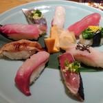 すし波奈 - 房総地魚にぎり。1480円税込
