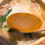 奥京 - ゆず塩なべやきうどんのスープ
