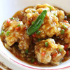 中華レストラン セドレ - 料理写真:19年春メニュー:若鶏の唐揚げ 梅風味ソース掛け