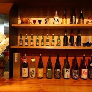 厳選の日本酒を数種類ご用意しております。