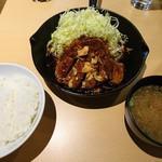 サッポロトンテキ - トンテキ定食(200g)(1000円)