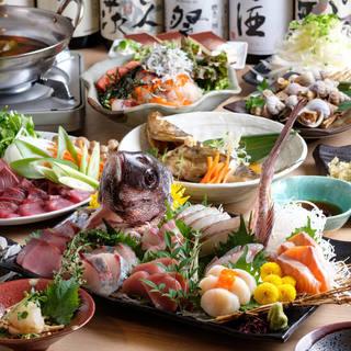 鮮魚が盛りだくさんな豪華お料理付宴会プラン3500円~!
