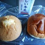 守谷製パン店 - 購入したあんぱん160円と甘食120円
