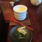 何日可庵 - 茶碗蒸し&香の物