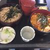 手打ちそば 福松 - 料理写真:親子丼とざる蕎麦のセット