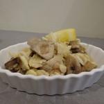 ピルグリム - 打ち豆とマッシュルームのレモンバター和え