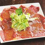 鉄板焼き 無量多 - 佐賀牛炙りカルパッチョ
