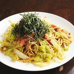 鉄板焼き 無量多 - 春キャベツと旬野菜のパスタ~アンチョビ風味~
