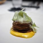ete - 河豚の白子のパイ包み 柚子のソース