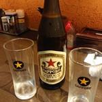 炙り味噌らーめん 麺匠 真武咲弥  - ドリンク写真:気を紛らわすビール。