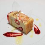 レストラン コバヤシ - 2019.3 フレジエ(フレッシュ苺のバタークリームケーキ)カルダモンのクッキーと共に…