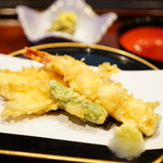 103144633 - 鶴 (¥4,000) 天ぷら、箸休め
