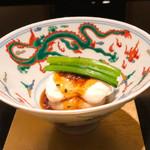 野嵯和 - ⑧エビ芋を焚いてお団子にして揚げた物に       白子焼き