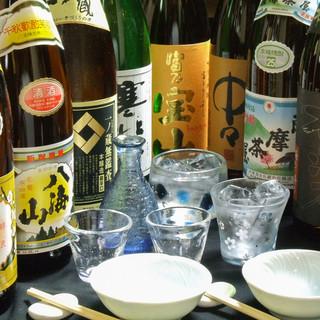 日本酒や焼酎の銘酒が充実!お料理とともにご堪能ください
